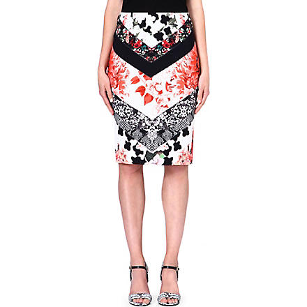 ROBERTO CAVALLI Floral-print pencil skirt (Multi