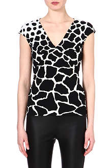 ROBERTO CAVALLI Printed v-neck top