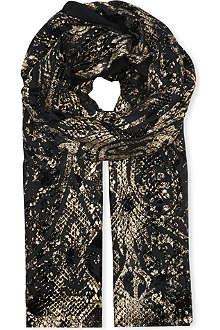 ROBERTO CAVALLI Metallic silk scarf