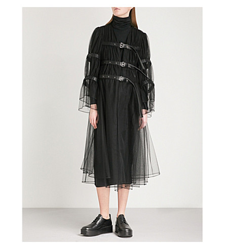 NOIR KEI NINOMIYA Gathered tulle jacket (Black