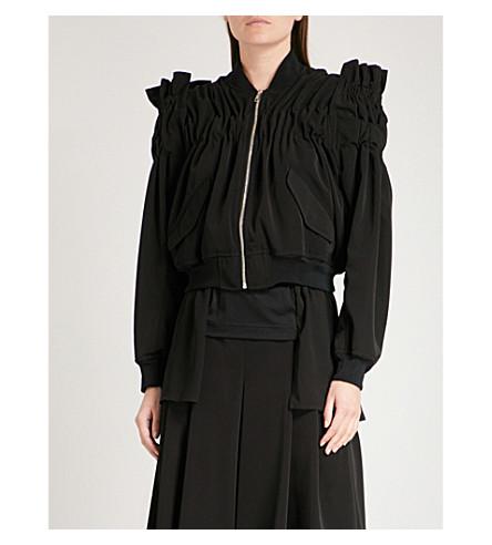 NOIR KEI NINOMIYA Ruched woven bomber jacket (Black