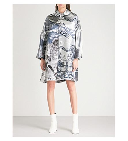 COMME DES GARCONS Graphic-print satin coat (Print
