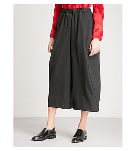 COMME DES GARCONS Wide-leg wool trousers (Black