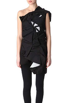 COMME DES GARCONS Layered and pleated dress