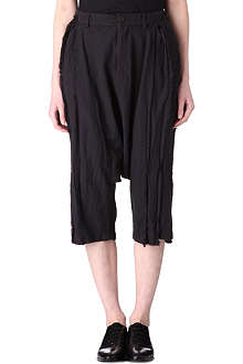 COMME DES GARCONS Cropped drop crotch trousers