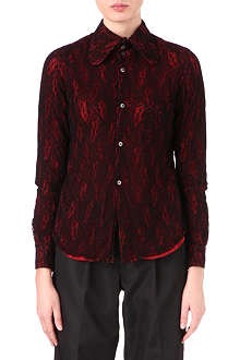 COMME DES GARCONS Long-sleeved lace shirt