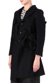 COMME DES GARCONS Bow charcoal wool coat