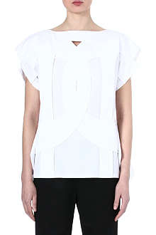 COMME DES GARCONS Cut-out cotton top