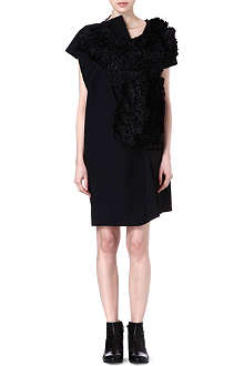 COMME DES GARCONS Draped ruffle shift dress