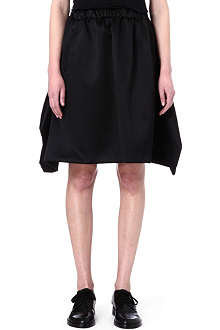 COMME DES GARCONS Pleated wool and silk-blend skirt