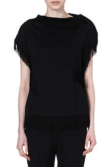 COMME DES GARCONS Fringed short-sleeved top