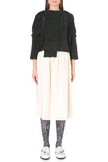 COMME DES GARCONS Contrast wool-blend and cotton dress
