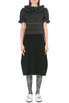COMME DES GARCONS Ruffled wool-blend dress