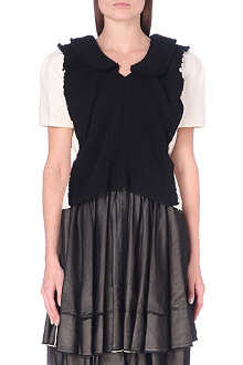 COMME DES GARCONS Contrast short-sleeved top