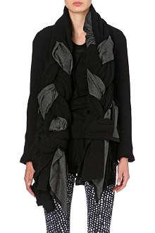 COMME DES GARCONS Front plait wool-blend cardigan