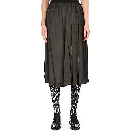 COMME DES GARCONS Pleated cotton culottes (Black