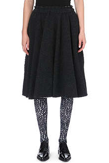 COMME DES GARCONS Bubble knit wool-blend skirt