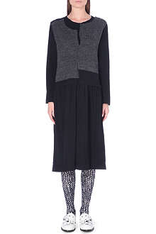 COMME DES GARCONS Knitted asymmetric wool-blend dress