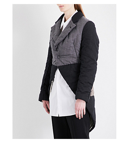 COMME DES GARCONS Contrast-panel woven jacket (Black