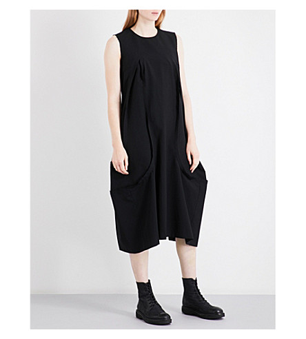 COMME DES GARCONS Oversized sleeveless wool dress (Black