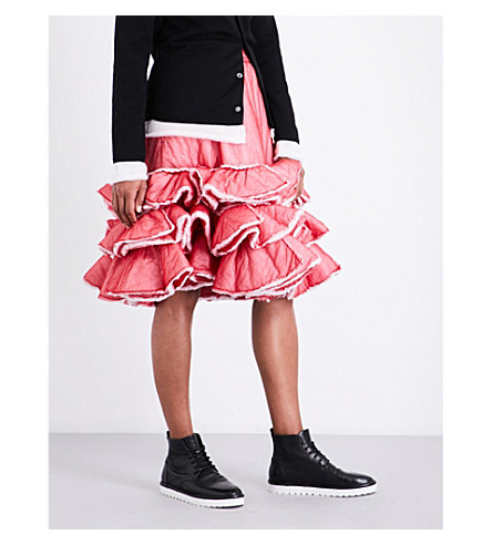 COMME DES GARCONS Tiered padded skirt (Red