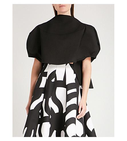 JUNYA WATANABE Balloon-sleeve cotton neoprene top (Black