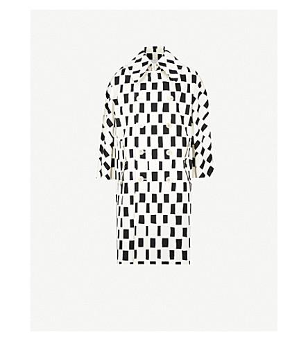 JUNYA WATANABE Marimekko checked-print cotton-canvas coat (Off white/black