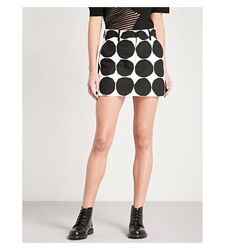 JUNYA WATANABE Marimekko circle-print cotton skirt (Black/white