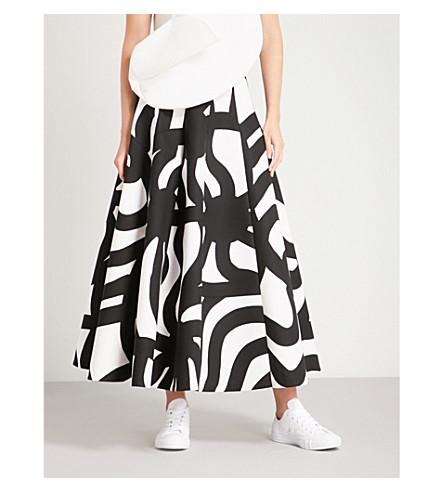 JUNYA WATANABE Marimekko abstract-print cotton-canvas skirt (White/black