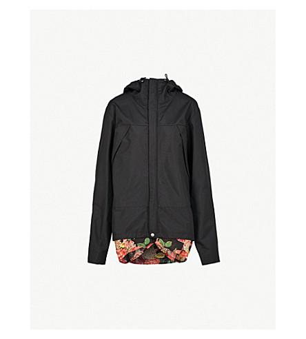 JUNYA WATANABE Floral-print underlay shell jacket (Black+black
