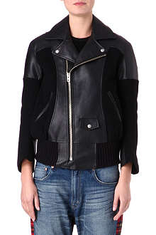 JUNYA WATANABE Faux-leather and wool jacket