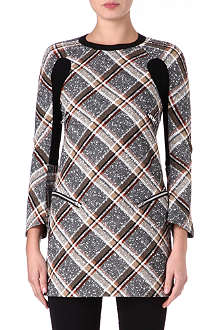 JUNYA WATANABE Mohair wool-blend check dress