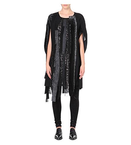 JUNYA WATANABE Patchwork cocoon dress (Black