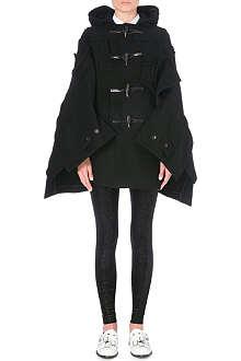 JUNYA WATANABE Patchwork wool-blend duffle coat