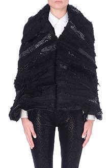 JUNYA WATANABE Textured cocoon cape