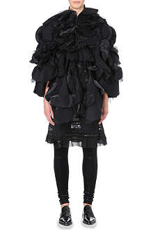 JUNYA WATANABE Circle-patchwork wool-blend cape