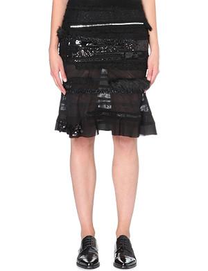 JUNYA WATANABE Patchwork semi-sheer skirt