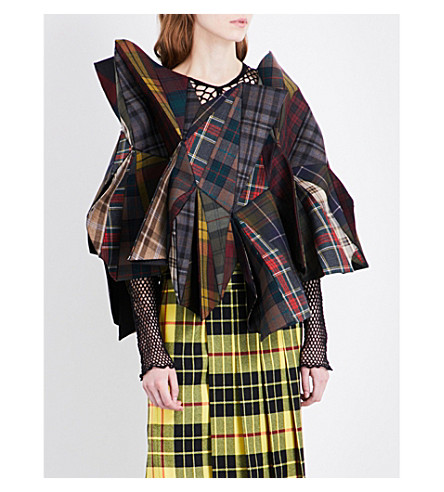 JUNYA WATANABE Tartan sculptured wool jacket (Mix