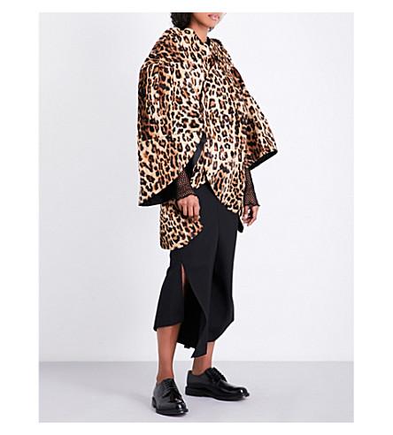 JUNYA WATANABE Leopard-print faux-fur jacket (Beige/brown