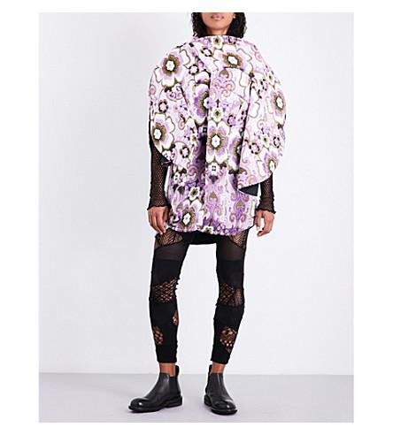 JUNYA WATANABE Floral velvet jacquard jacket (Purple/natural