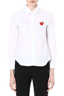 PLAY Embroidered-heart shirt
