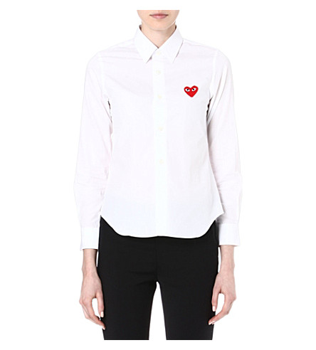 PLAY Embroidered-heart shirt (Wht