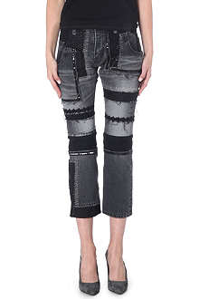 JUNYA WATANABE Patchwork straight-leg mid-rise jeans