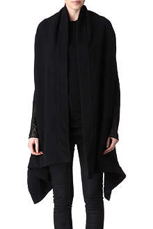 RICK OWENS Leather-panelled jacket