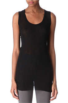 RICK OWENS Semi-sheer vest top