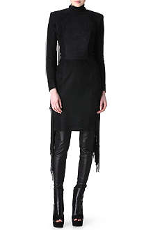 GARETH PUGH Tasseled suede dress