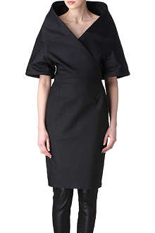 GARETH PUGH Strong shoulder silk dress