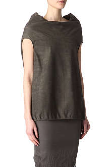 RICK OWENS Drawstring leather top