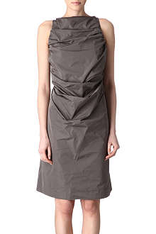 RICK OWENS Taffeta ruched-back dress