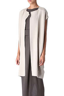 RICK OWENS Sleeveless silk jacket